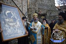 Праздник Крещения в монастыре Иверон