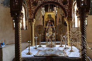 Алтарь Храма Протат в столице Афона Кариес | Athos Guide