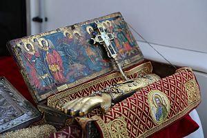 Правая десница Иоанна Предтечи монастырь Дионисат | Athos Guide