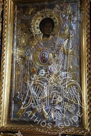 Чудотворная икона Георгия Победаносца, монастырь Ксенофонд