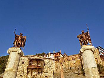 Чудесное появление источника в монастыре Дохиар