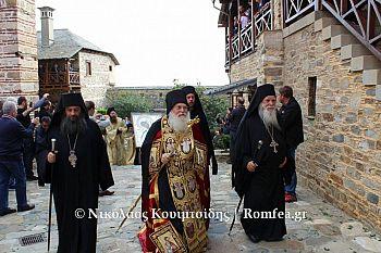 Икона Богородица Парамифия прибыла в монастырь Ксенофонт