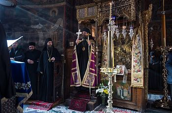 Праздничная литургия в монастыре Хиландар