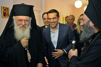 Тайная встреча Алексиса Ципраса и Архиепископа Иеронима