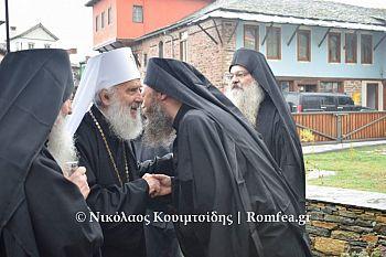 Патриарх Сербии прибыл на Афон