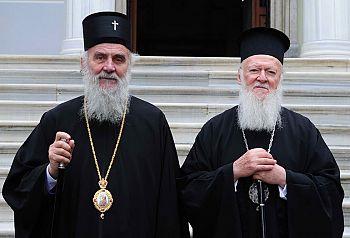 Вселенский Патриарх встретился с Патриархом Сербии