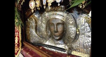 Икона, созданная из земли и крови монахов