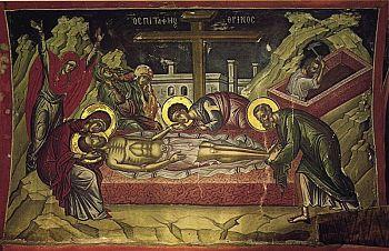 Сокровища Афона: каменная плита, на которую возложили тело Христа