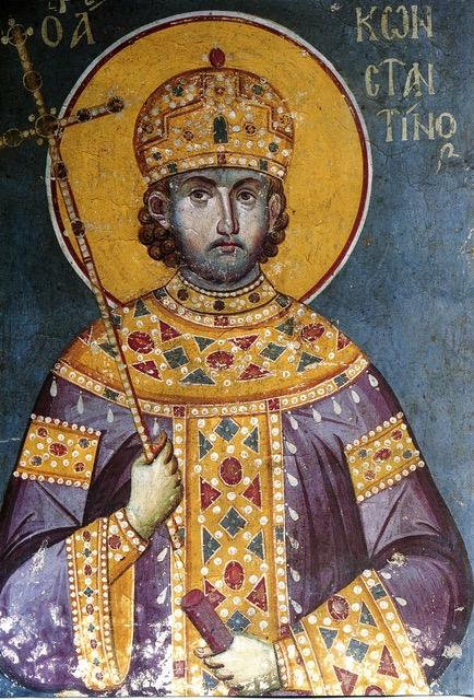 Мануил Панселин, фото фрески Св. Константина