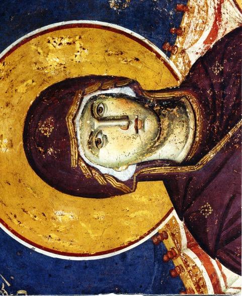 Фреска работы Панселина в Протате