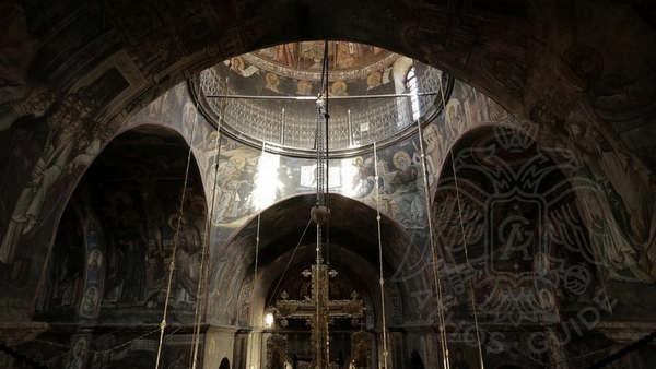Купол храма монастыря Ватопед