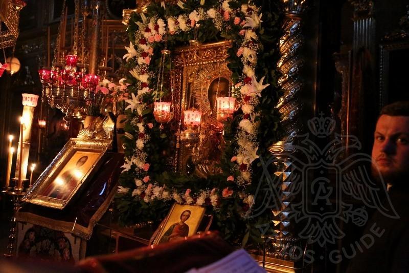 Икона Святого Пантелеймона на Афоне