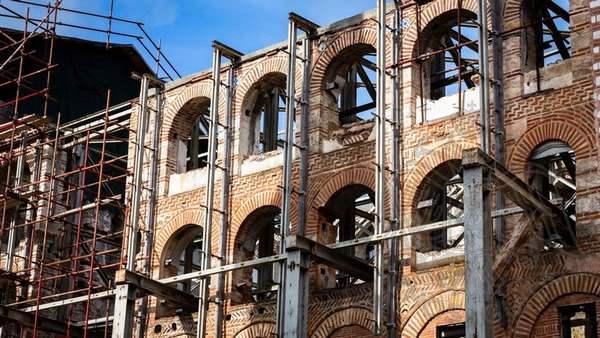 Реставрация монастыря Хиландар после пожара