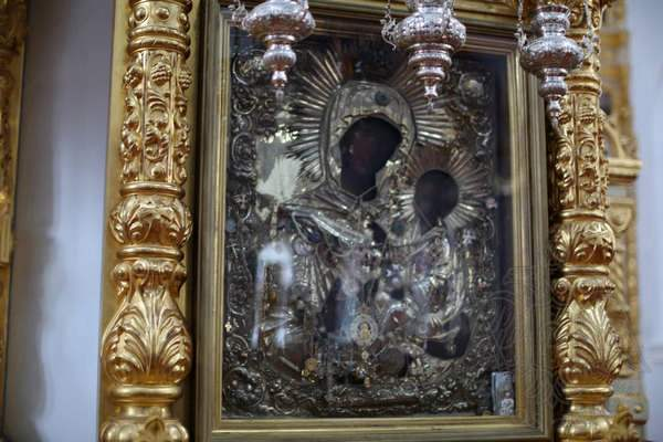 Афон, Ильинский скит: икона Богородицы