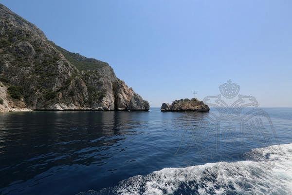 Вид на Афон с моря