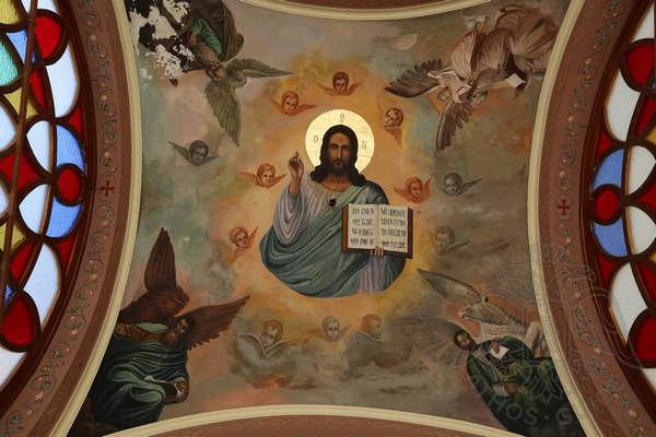 Роспись купола, монастырь Святого Павла