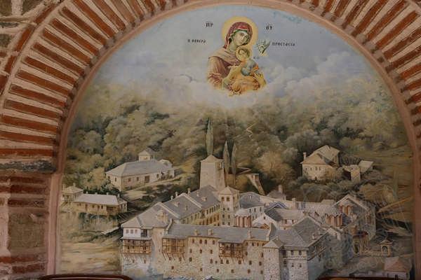 Кутлумушский монастырь, фрески