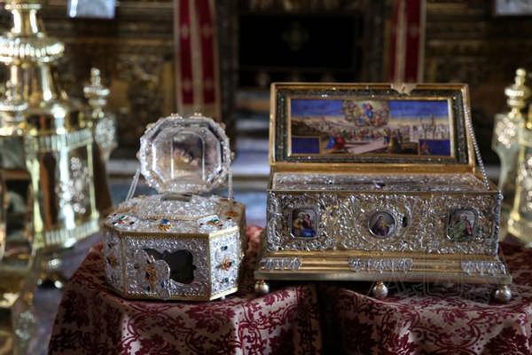 Афон, Ватопед: святыни монастыря