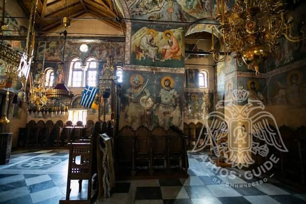 Фрески монастыря Протата