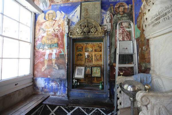 Святыни монастыря Зограф