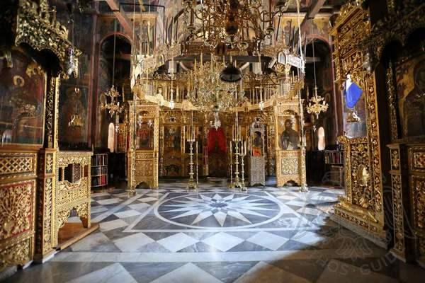 Фото росписи центрального храма монастыря Дионисиат
