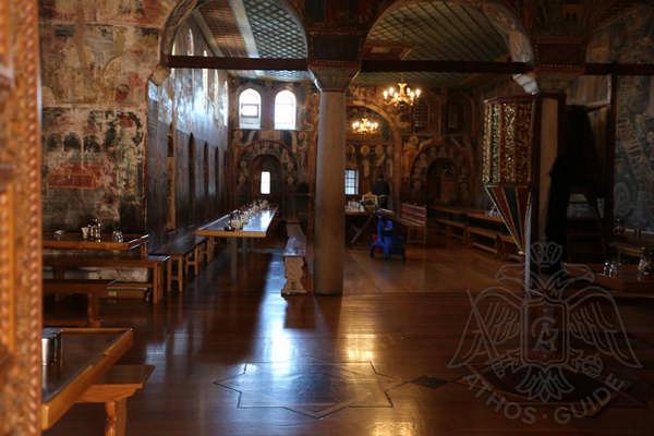 Фрески трапезной монастыря Дионисиат