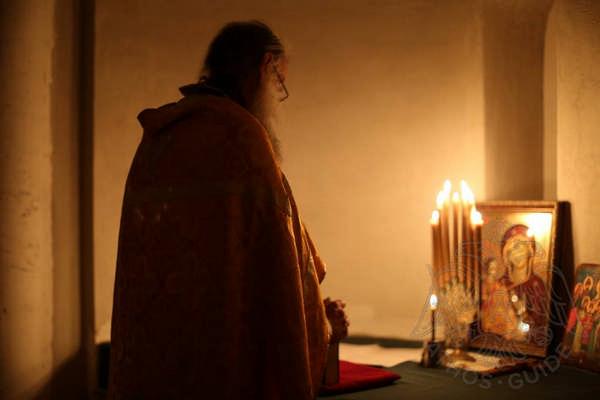 Молитва в Храме Преображения Господня