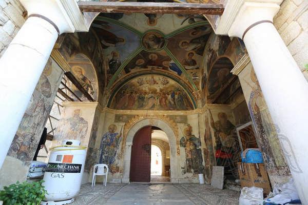 Гора Афон, монастырь Эсфигмен: фрески монастыря