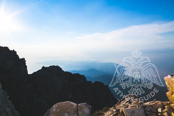 Панорамный вид с афонской вершины