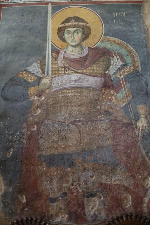 Фреска Протата с изображением св. Георгия