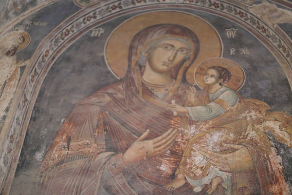 Фреска монастыря Эсфигмен