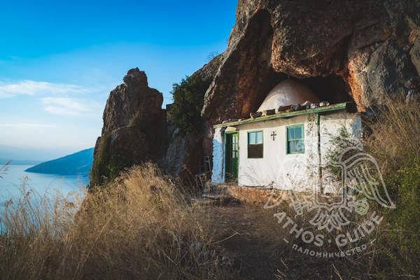 Келья Исихаста на Святой Горе Афон, вид на море
