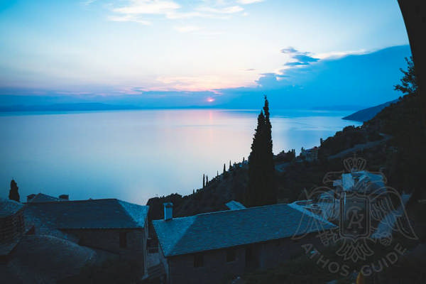 Закат на Горе Афон