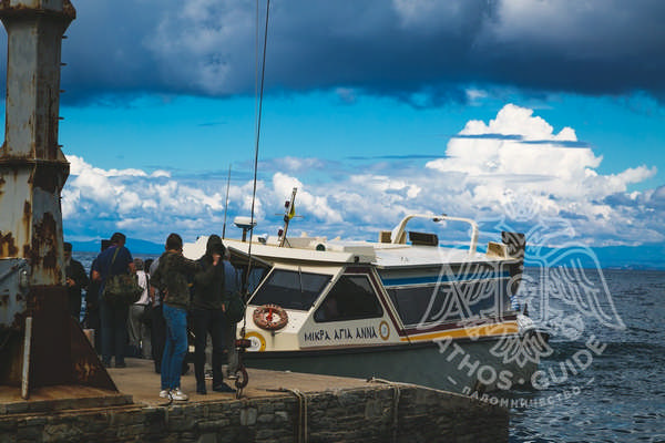 Паломники в порту Дафни