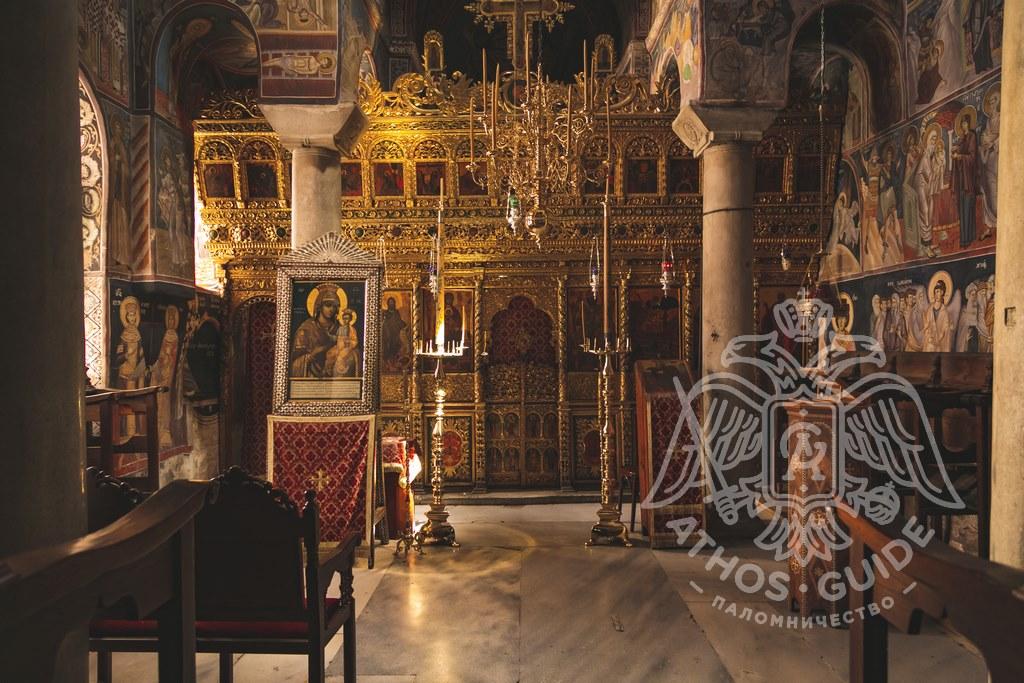 Иконостас храма монастыря Ватопед фото