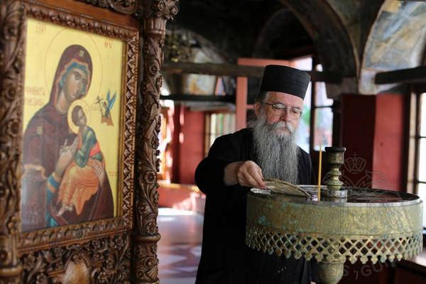 Монах монастыря Кутлумуш на Афоне