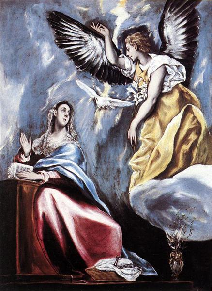 1660 Благовещение, Эль Греко.