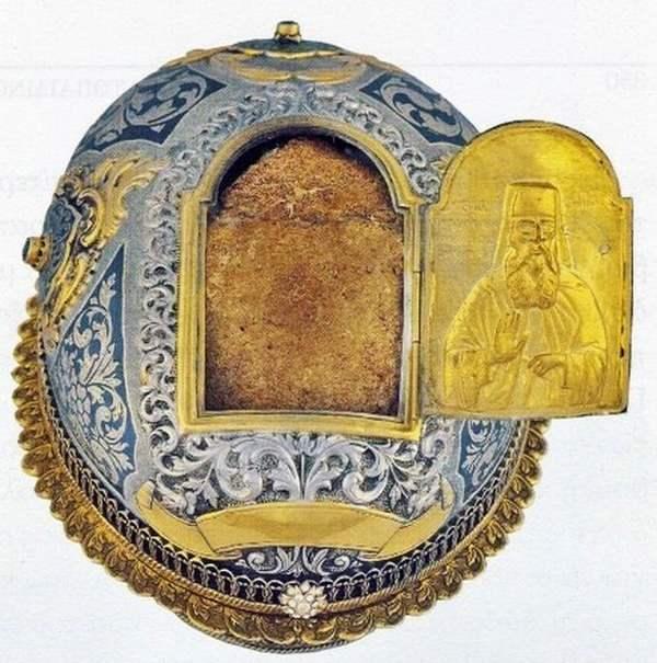 Частица главы святого Иоакима Ватопедского
